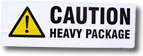 Caution Heavy Package Sticker